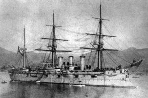 крейсер Память Азова у берегов Японии