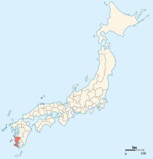 Карта японских провинций на 1868
